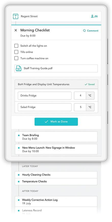 Smart checklist app